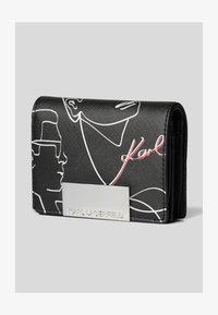 KARL LAGERFELD - Wallet - black/ white - 1