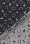 KARL LAGERFELD - SIGNATURE SCARF - Scarf - black