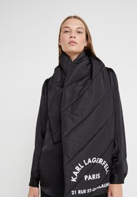 KARL LAGERFELD - GUILLAUME PUFFER SCARF - Sjaal - black - 0