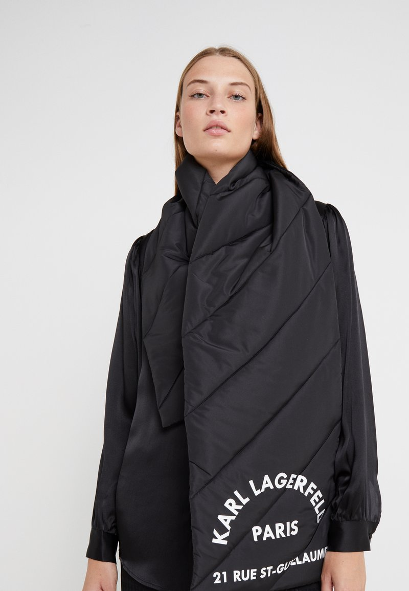 KARL LAGERFELD - GUILLAUME PUFFER SCARF - Sjaal - black