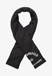 KARL LAGERFELD - GUILLAUME PUFFER SCARF - Sjaal - black - 1