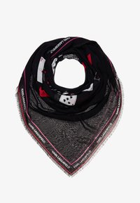 KARL LAGERFELD - PLAYING CARD SCARF - Halsdoek - black - 1