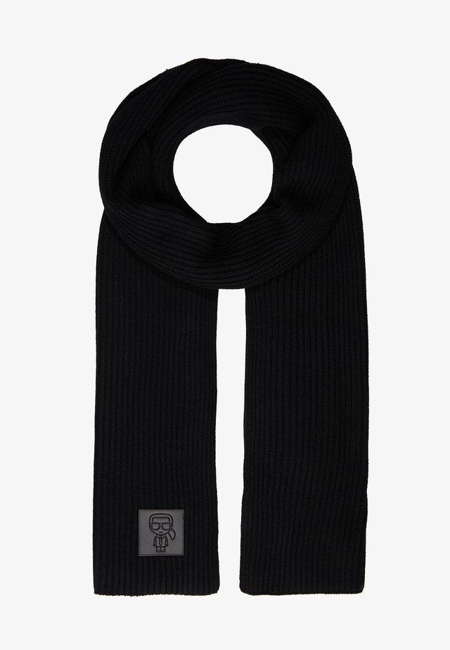 IKONIK PATCH SCARF - Sjal - black