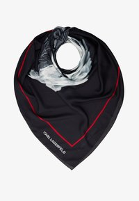 KARL LAGERFELD - KARL LEGEND COLOR SCARF - Foulard - black - 1