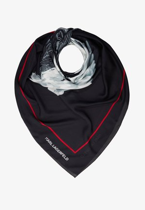 KARL LEGEND COLOR SCARF - Šátek - black