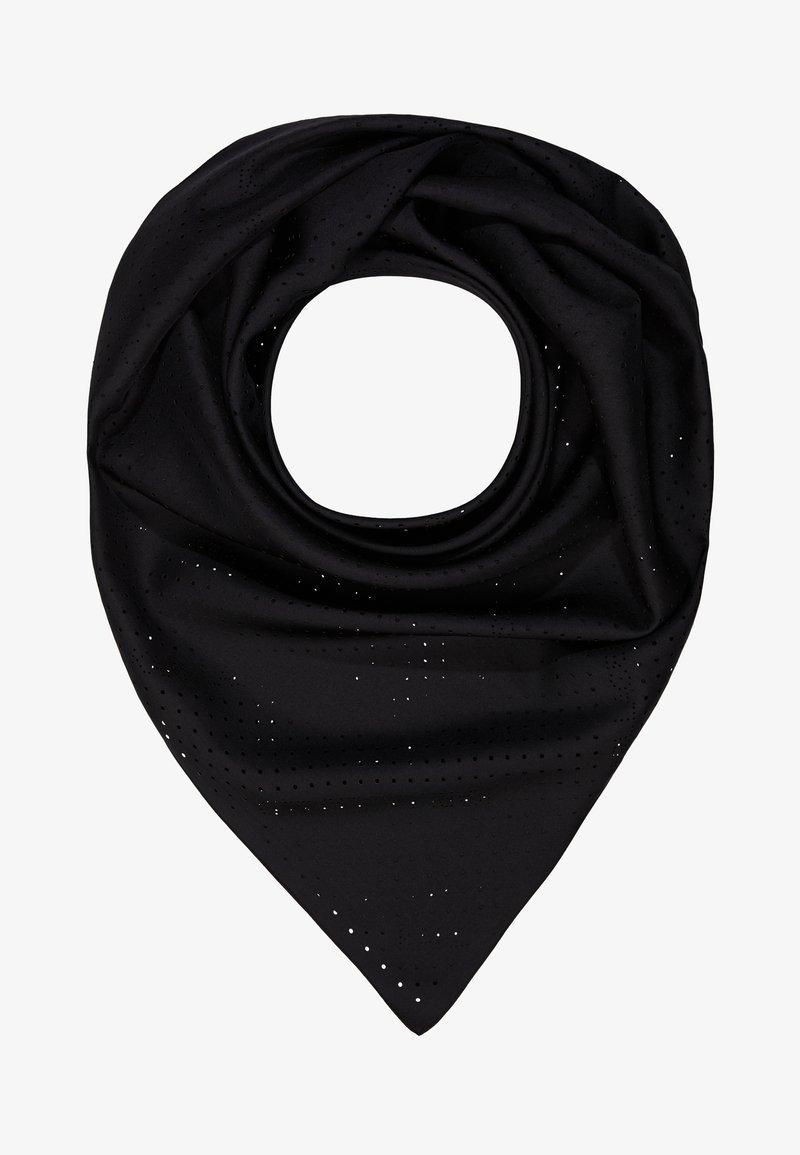 KARL LAGERFELD - KARL X CARINE PERFORATED SCARF - Foulard - black