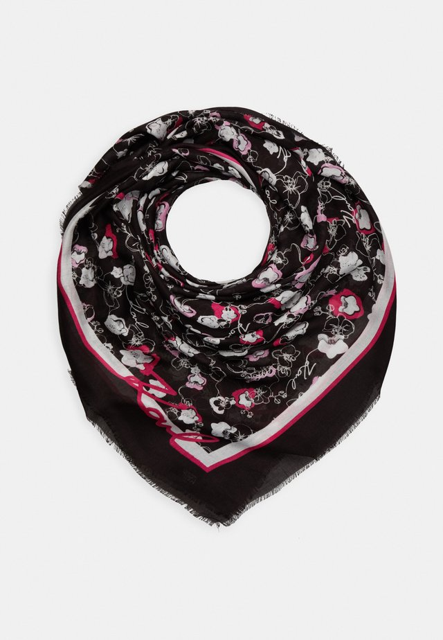 ALL OVER ORCHID SQUARE SCARF - Tuch - black