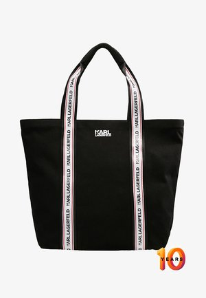 KARL X WEBBING SHOPPER - Bolso shopping - black