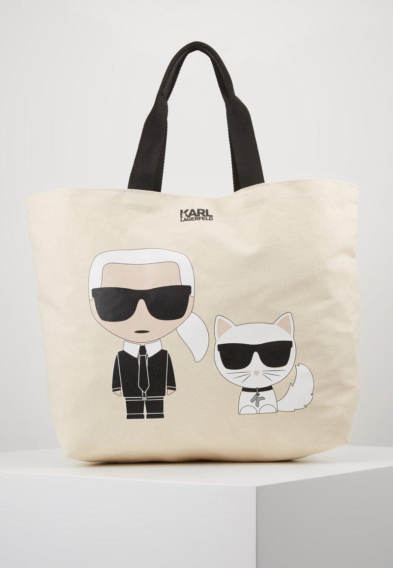 KARL LAGERFELD - IKONIK - Tote bag - natural