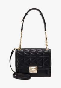 KARL LAGERFELD - KUILTED MINI HANDBAG - Handbag - black/gold - 6