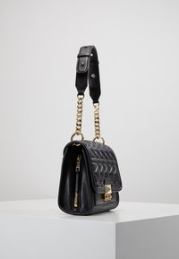 KARL LAGERFELD - KUILTED MINI HANDBAG - Handbag - black/gold - 3