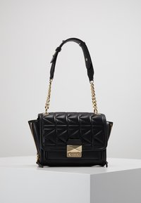 KARL LAGERFELD - KUILTED MINI HANDBAG - Handbag - black/gold - 5