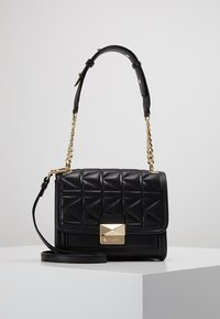 KARL LAGERFELD - KUILTED MINI HANDBAG - Handbag - black/gold - 0