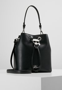 KARL LAGERFELD - IKONIK BUCKET BAG - Kabelka - black - 0