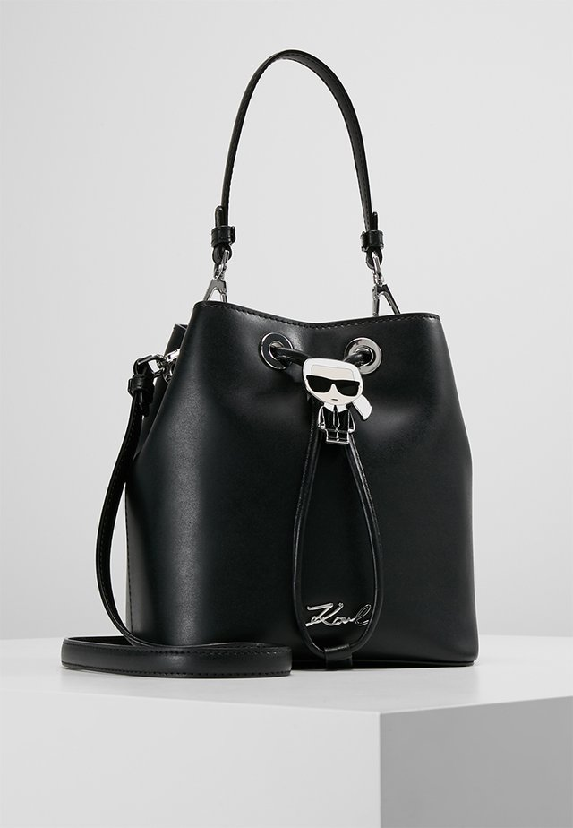 IKONIK BUCKET BAG - Handtasche - black