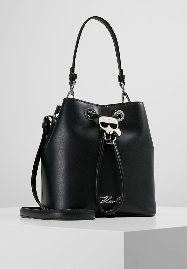 KARL LAGERFELD - IKONIK BUCKET BAG - Kabelka - black