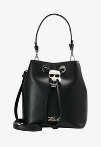 KARL LAGERFELD - IKONIK BUCKET BAG - Kabelka - black - 5