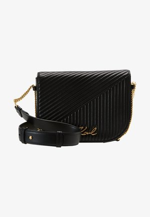 SIGNATURE QUILTED  - Across body bag - black