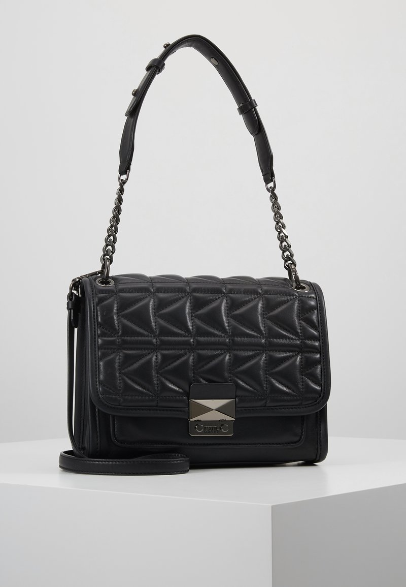 KARL LAGERFELD - KUILTED SMALL SHOULDERBAG - Handtas - black