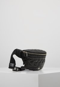 KARL LAGERFELD - KUILTED STUDS BUMBAG - Bum bag - black - 3