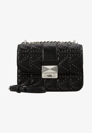 KUILTED STUDS CROSSBODY - Across body bag - black