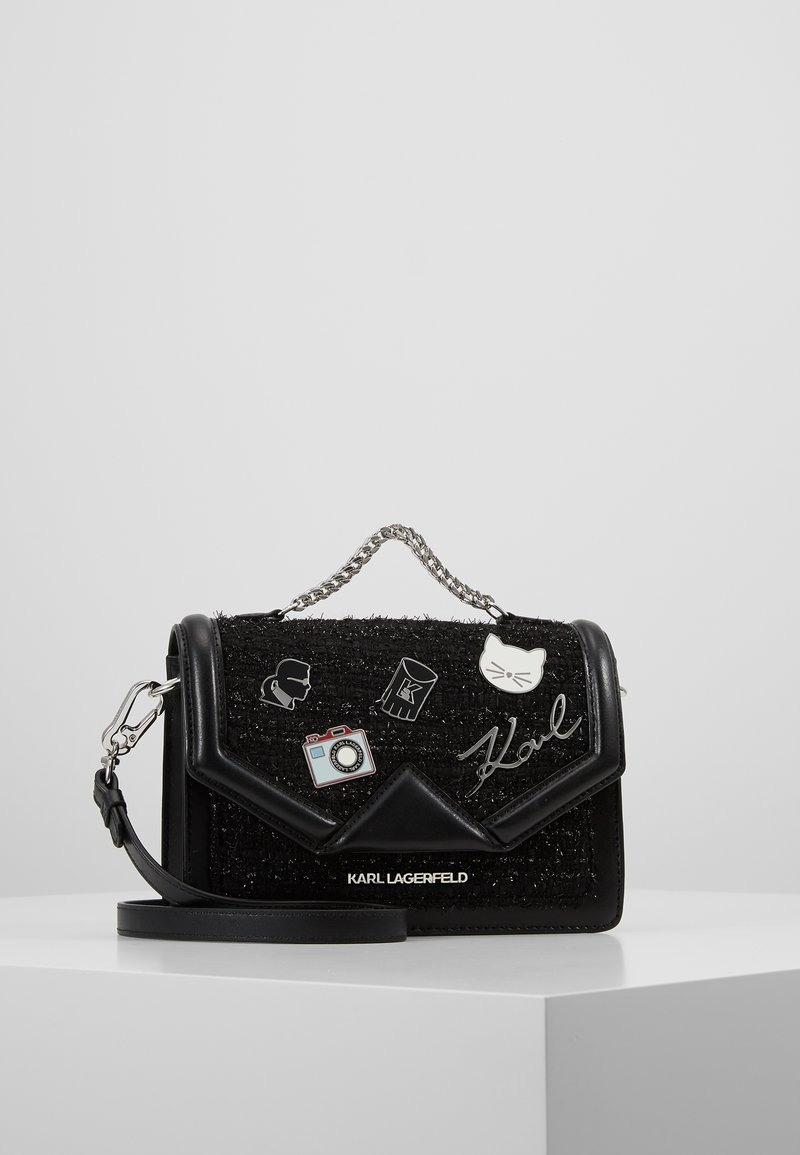 KARL LAGERFELD - KLASSIK PIN SMALL SHOULDER BAG - Håndtasker - black
