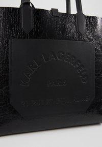 KARL LAGERFELD - JOURNEY TOTE - Cabas - black - 7