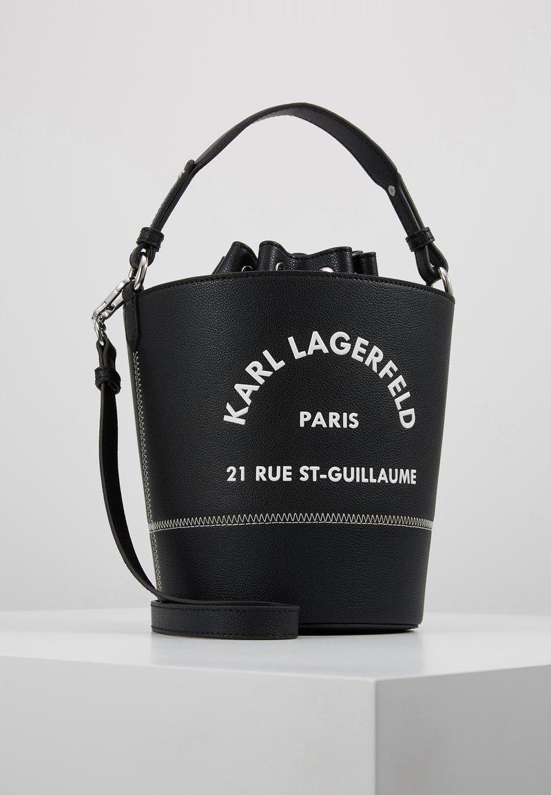 KARL LAGERFELD - KARL X OLIVIA RUE ST GUILLAUME BUCKET - Bolso de mano - black
