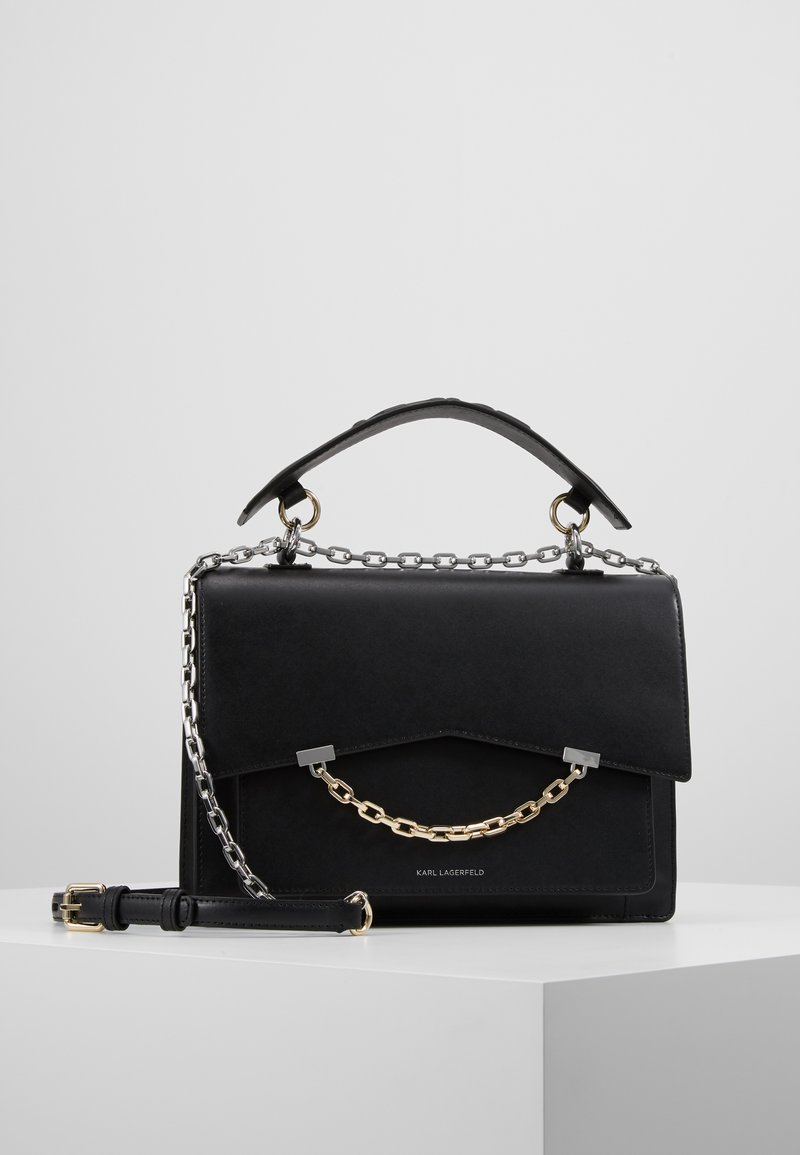 KARL LAGERFELD - SEVEN TOP HANDLE - Skuldertasker - black