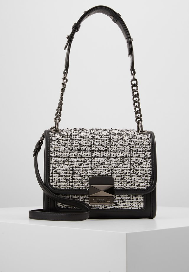 KUILTED SMALL - Handtasche - black/white
