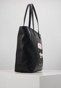 KARL LAGERFELD - IKONIK SOFT TOTE - Handbag - black - 4