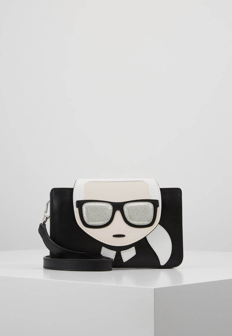 KARL LAGERFELD - IKONIK TRIPLE POUCH - Across body bag - black