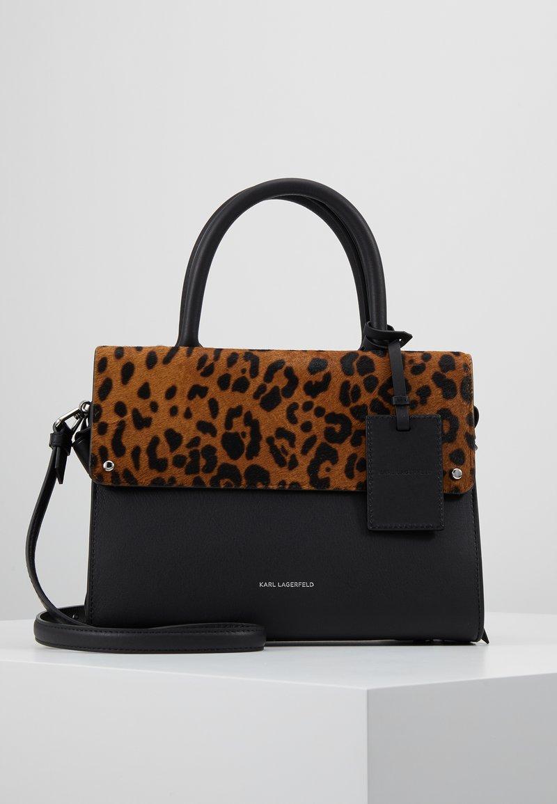 KARL LAGERFELD - IKON Leopard TOP HANDLE - Borsa a mano - black
