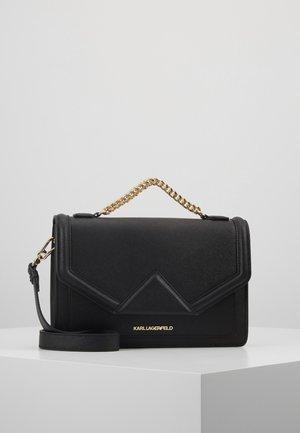 KLASSIK SHOULDERBAG - Handbag - black/gold