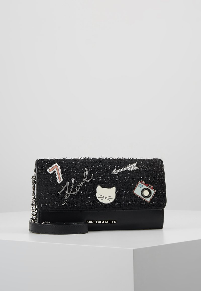 KARL LAGERFELD - KLASSIK PINS WALLET ON CHAIN - Wallet - black