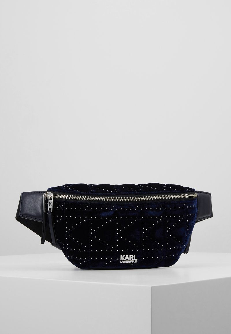 KARL LAGERFELD - KUILTED STUDS BUMBAG  - Sac banane - midnight blue