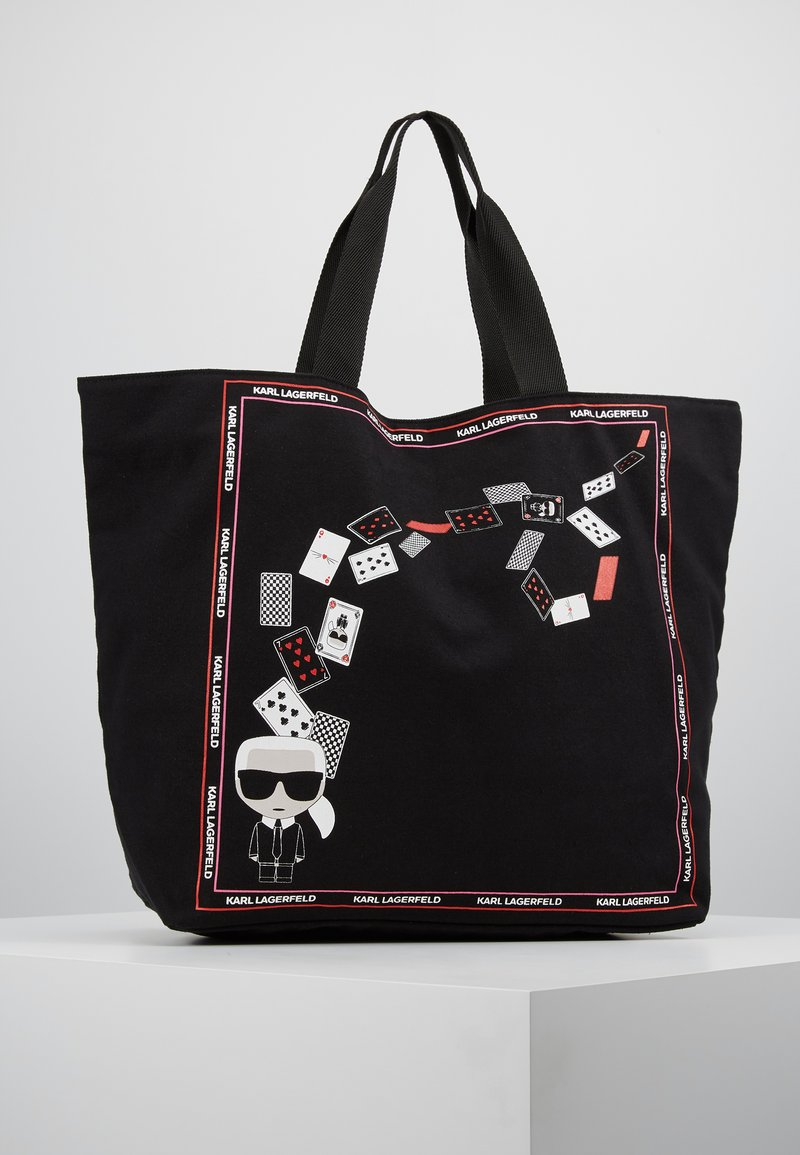 KARL LAGERFELD - PLAYING CARDS SHOPPER - Shopping bags - black