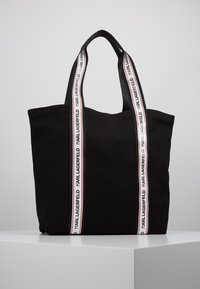 KARL LAGERFELD - KARL WEBBING SHOPPER - Shopping bags - black - 2