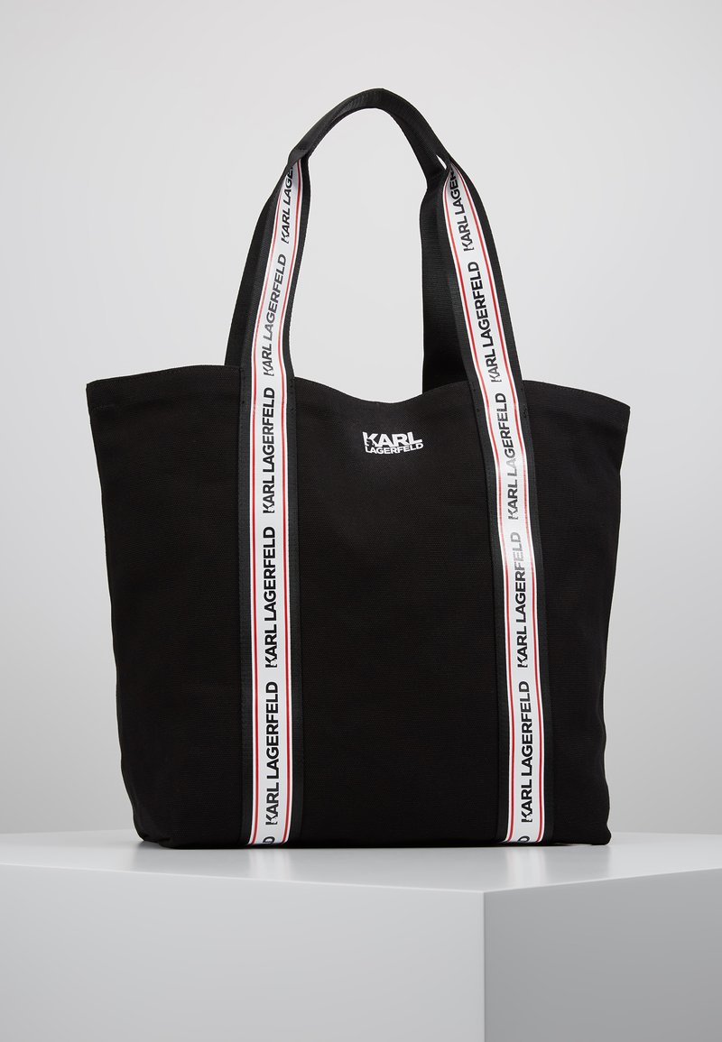 KARL LAGERFELD - KARL WEBBING SHOPPER - Shopping bags - black