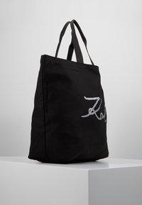 KARL LAGERFELD - GLITTER SHOPPER - Bolso shopping - black - 3