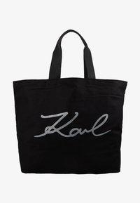 KARL LAGERFELD - GLITTER SHOPPER - Bolso shopping - black - 5