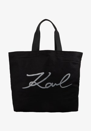 GLITTER SHOPPER - Shopping bag - black