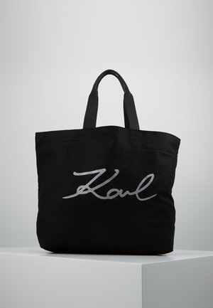 GLITTER SHOPPER - Tote bag - black