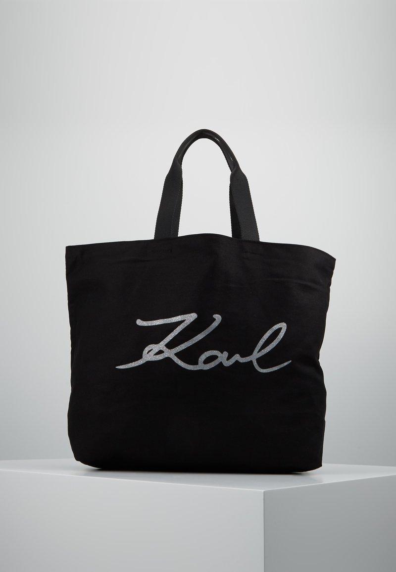 KARL LAGERFELD - GLITTER SHOPPER - Bolso shopping - black