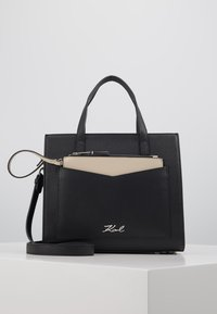 KARL LAGERFELD - POCKET SMALL TOTE - Bolso de mano - black - 0