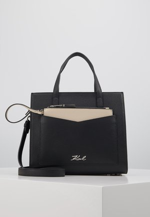 POCKET SMALL TOTE - Handtasche - black