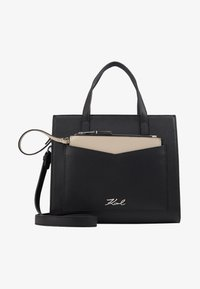 KARL LAGERFELD - POCKET SMALL TOTE - Bolso de mano - black