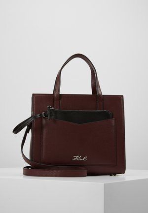 POCKET SMALL TOTE - Käsilaukku - wine