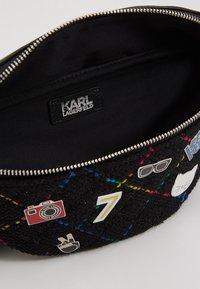 KARL LAGERFELD - STUDIO BUMBAG - Bum bag - black/multi - 4
