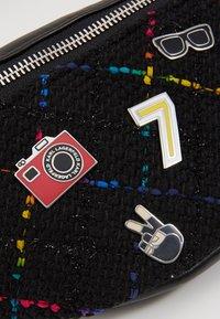KARL LAGERFELD - STUDIO BUMBAG - Bum bag - black/multi - 6
